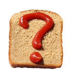 Question of a diet Royalty Free Stock Photography