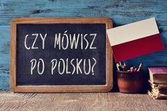 Question do you speak Polish? written in Polish Royalty Free Stock Photography