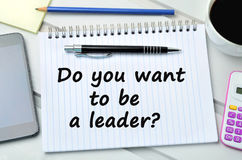 Question Do you want to be a leader Royalty Free Stock Photography