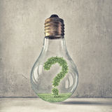 Question of ecology and energy saving Stock Images