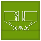 Question end Answer Icon Stock Photo
