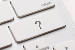 Question enter button key Stock Image