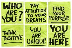 Question et expressions de motivation Photographie stock