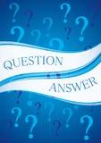 Question et réponse Image stock