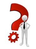 Question et solution d'affaires Image libre de droits