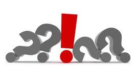 Question and Exclamation 3d. Question and Exclamation marks 3d Stock Photos
