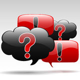 Question-Exclamation Royalty Free Stock Photo