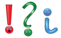 Question, exclamation and information mark. Stock Photo