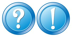 Question Exclamation mark Royalty Free Stock Photos