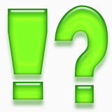 Question and exclamation mark Royalty Free Stock Images