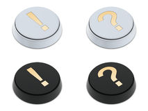 Question and exclamation mark buttons Stock Photo