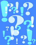 Question and exclamation marks Royalty Free Stock Photography