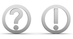 Question exclamation marks Stock Image