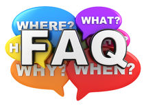 Question and FAQ. Abstract Many questions and FAQ (done in 3d rendering royalty free illustration