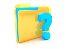 Question folder icon Royalty Free Stock Image