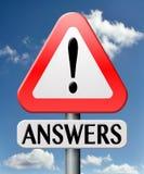 Question fréquemment posée Image libre de droits