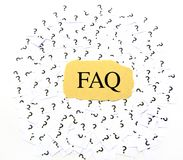 Question fréquemment posée (FAQ) Photos stock