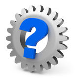 The question gear Stock Photo