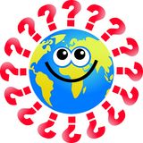 Question globe Royalty Free Stock Image