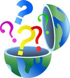 Question globe stock illustration