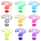 Question glossy set 1 Royalty Free Stock Photo