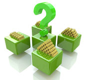 Question growing gold bullion Stock Images