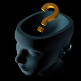 Question in head Royalty Free Stock Images