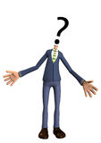 Question Head. Man with a question mark for a head Royalty Free Stock Images