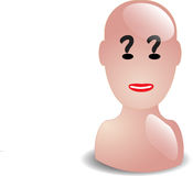 Question head. Abstract human head asking questions Royalty Free Illustration