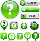 Question high-detailed modern buttons. Royalty Free Stock Image
