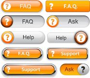 Question high-detailed modern buttons. Stock Image