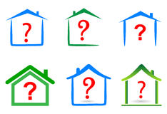 Question home. Simple illustration of question home on white background Stock Image