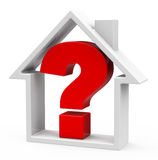 The question house Stock Photography