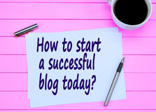 Question How to start a successful blog today Royalty Free Stock Images