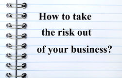 Question How to take the risk out of your business Stock Photography