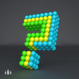 Question icon. Design element. 3d vector. Stock Images