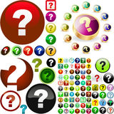 Question icon. Usable for web design Royalty Free Stock Images