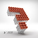 Question icon. Web design element. 3d vector Stock Image