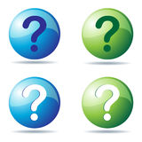 Question icons. Illustrations of question icons on white background Stock Images