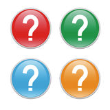 Question icons. Colorful icons for the web with a question mark Royalty Free Stock Photos
