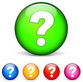 Question icons Royalty Free Stock Photography