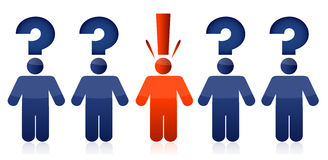 Question and idea people concept Royalty Free Stock Images