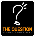 Question illustration Stock Photography