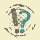 Question and information grunge stamp Royalty Free Stock Photo