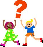 Question Kids Royalty Free Stock Images