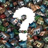 Question à la maison Images libres de droits