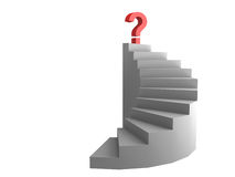 Question on ladder Royalty Free Stock Photography