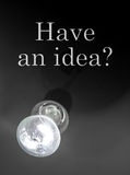 Question and light of bulb Royalty Free Stock Photos