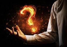 Question light sign Stock Photography