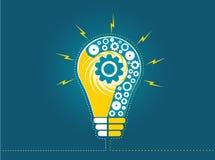 Question lightbulb Stock Image